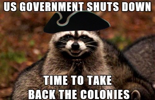evil plotting racoon americans Memes government shutdown - 7831509248