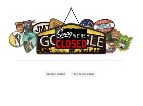 google doodle yosemite goverment shutdown google monday thru friday g rated - 7831528448