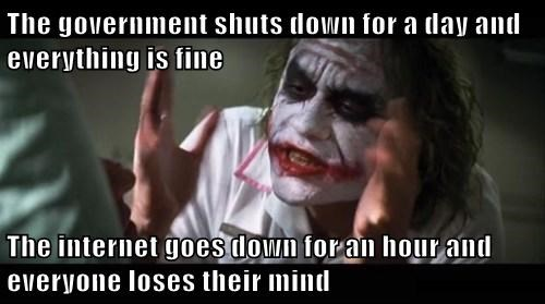 government shutdown Memes joker mind loss - 7831546368