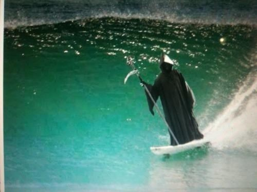 wtf,Death,grim reaper,surfing,funny