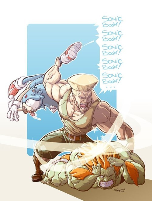 art Street fighter sonic - 7831608320