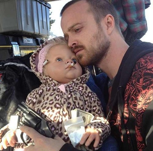 Babies,guns,jessie pinkman,breaking bad,wtf,funny