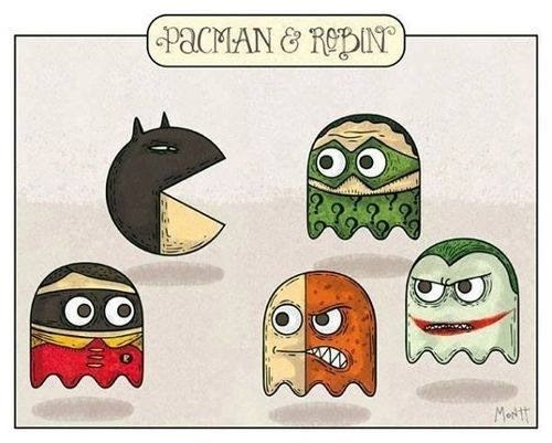 Fan Art pacman batman - 7831626240