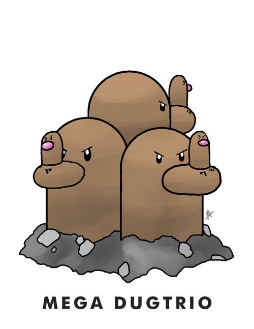 dugtrio diglett diglett wednesday - 7831636480