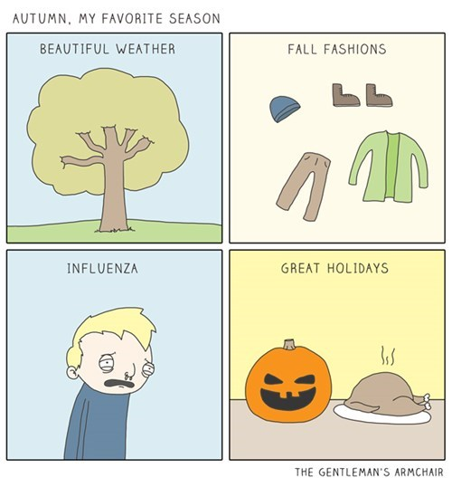 autumn funny flu season web comics