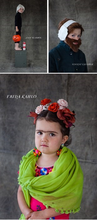 frida kahlo Andy Warhol Van Gogh costume kids famously freaky g rated - 7831668224
