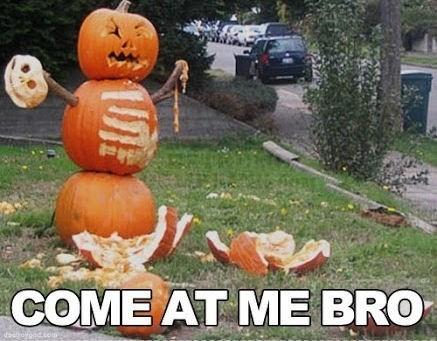 come at me bro jack o lanterns hallowmeme halloween - 7831689984