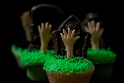 graveyard zombie cupcakes dessert g rated food - 7831693824