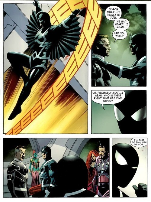 marvel polygamy off the page black bolt Spider-Man - 7831699968