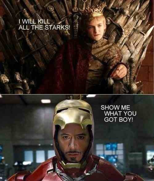 Game of Thrones tony stark joffrey baratheon iron man - 7831777792