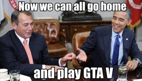 government shutdown grand theft auto v politics - 7831814656