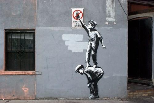 banksy graffiti hacked irl funny - 7831816192