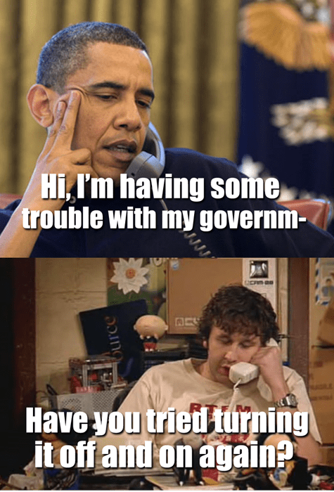government shutdown,obama,it crowd