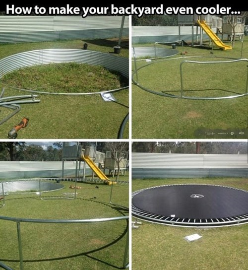 trampolines,backyards