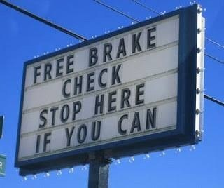 sign cars funny brakes - 7832000768