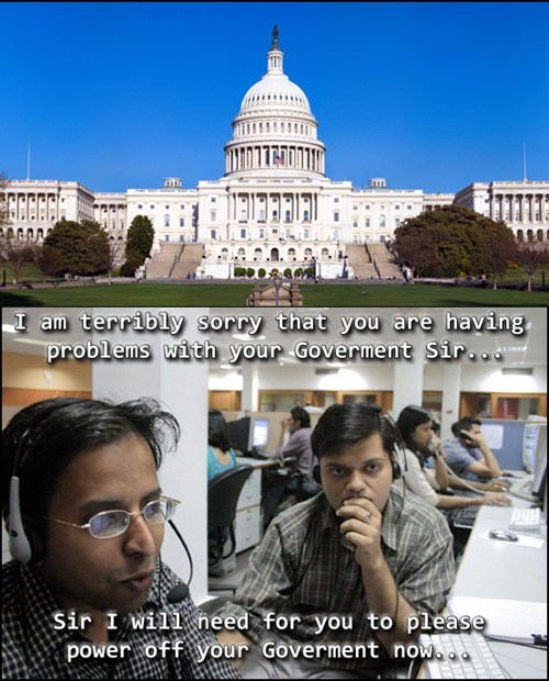 government shutdown,tech support