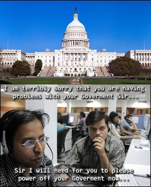 government shutdown tech support