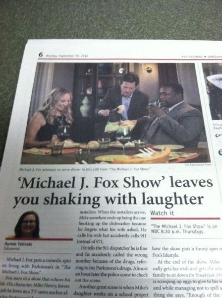 headline why michael j fox funny newspaper - 7832011008