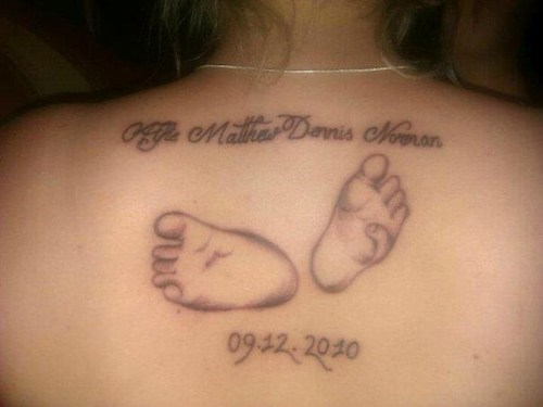 wtf back pieces tattoos foot prints funny - 7832012032