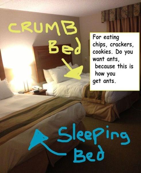 pro tip life hacks beds funny