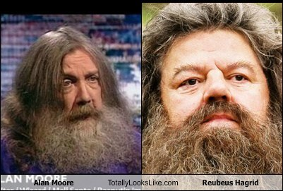 totally looks like,alan moore,reubeus hagrid,funny