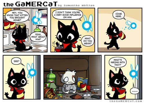gamers,the gamercat,web comics