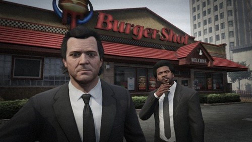 selfie,grand theft auto v,pulp fiction