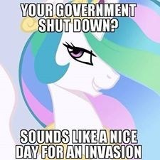 trollestia,shut down,princess celestia