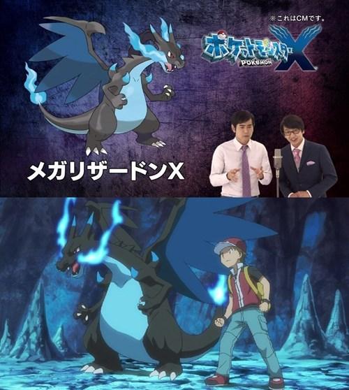 pokemon origins mega charizard X anime mega evolutions - 7832667392