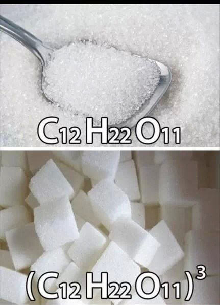 sugar science cubed Chemistry funny - 7832811520
