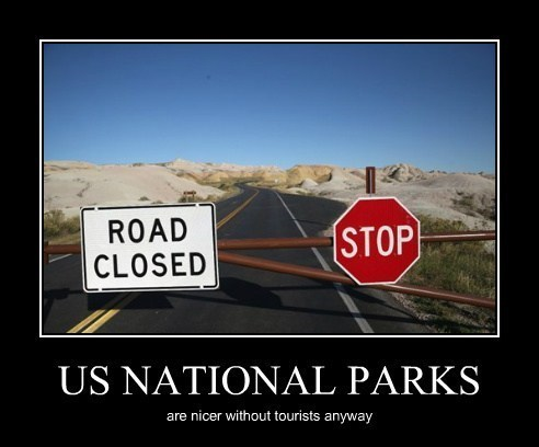 national park shut down funny