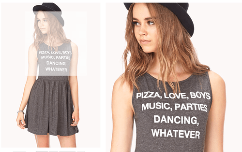 fashion,forever 21,pizza,shirt