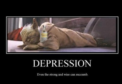 booze depression yoda funny - 7833240064