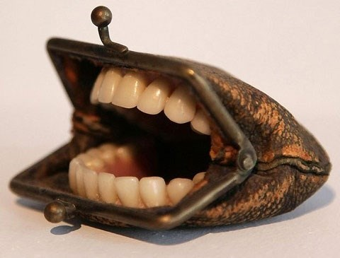 wtf,teeth,funny,coin purses