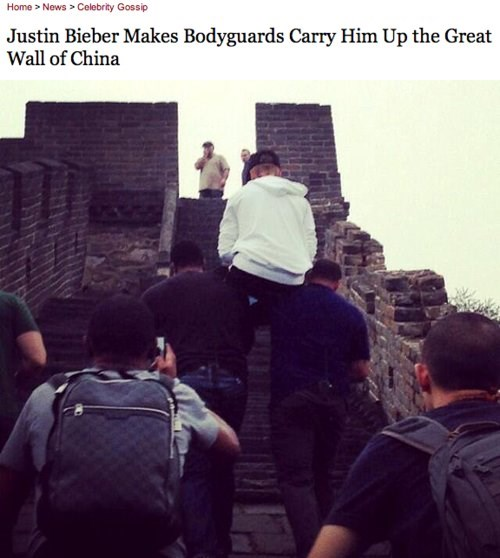 lazy great wall of china justin bieber Music g rated - 7833349632