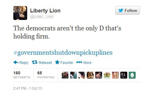 government shutdown,Congress,pick-up lines,governmentshutdownpickuplines,government shutdown pickup lines