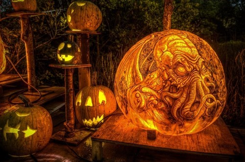 halloween,jack o lanterns,cthulhu,ghoulish geeks,g rated