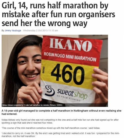 completely relevant news,accidental win,marathon,funny