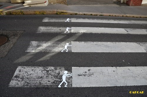 Street Art graffiti hacked irl crosswalk funny - 7833544448