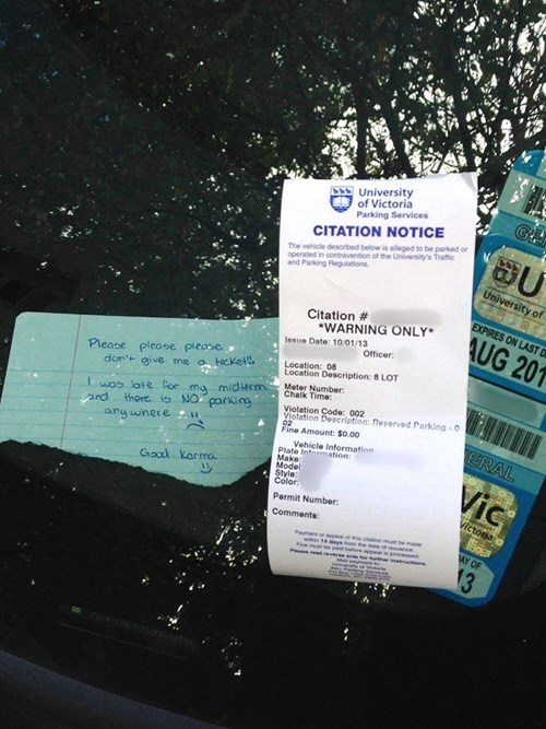 random act of kindness,ticket,funny,karma