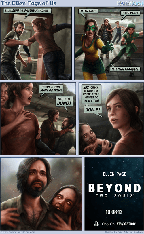 ellen page,comics,the last of us,video games,web comics
