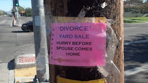 sign,divorce,free stuff,funny