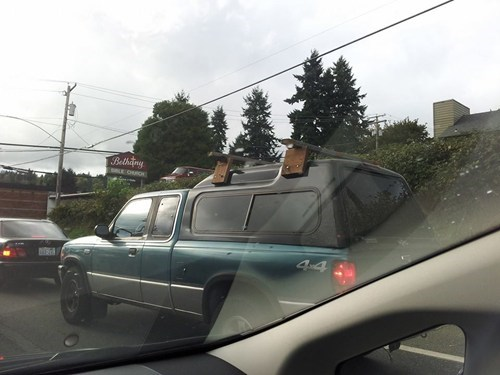 pickup trucks,roof rack,wood,there I fixed it
