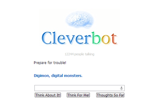 Pokémon,digimon,Cleverbot