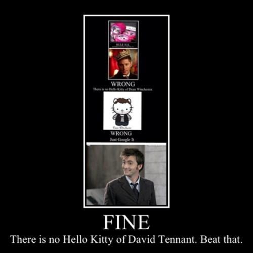 fine David Tennant hello kitty doctor who - 7834018304