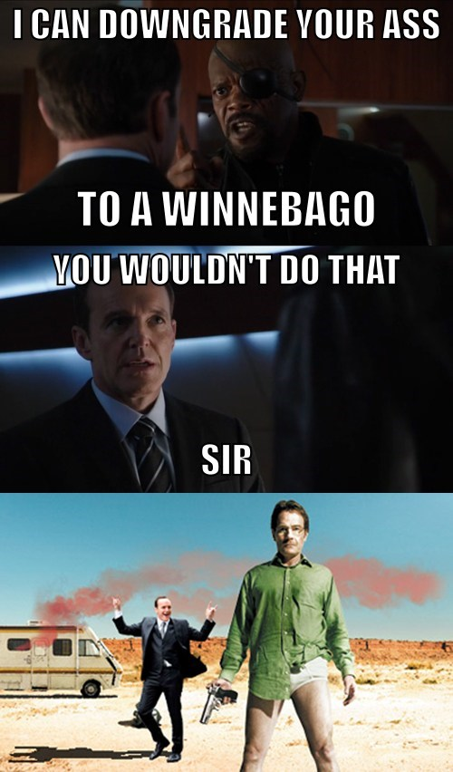Coulson get's a winnebago, and a new team