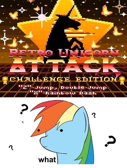 unicorn video game rainbow dash - 7834580736