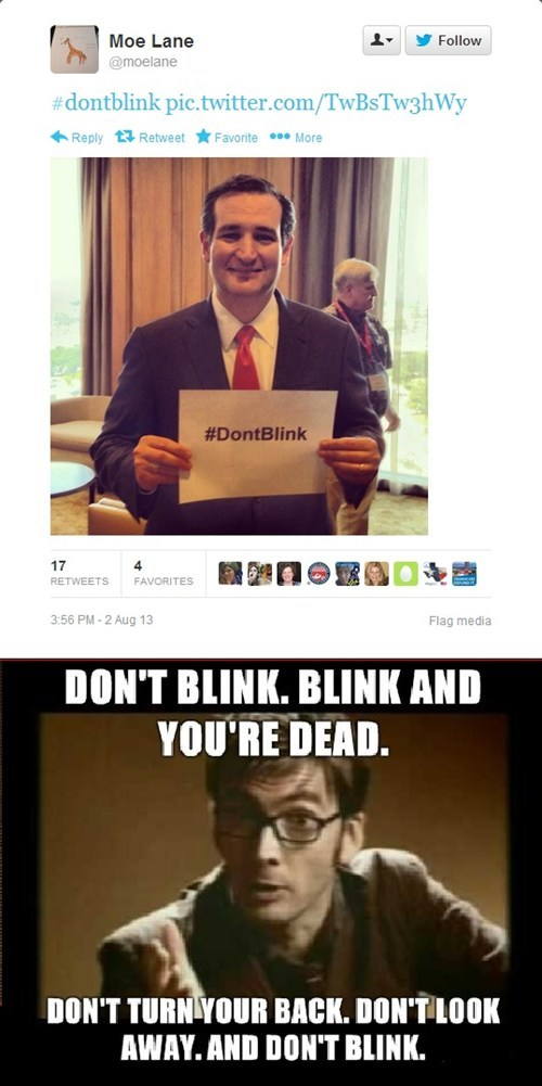weeping angels doctor who dont-blink politics - 7834585600