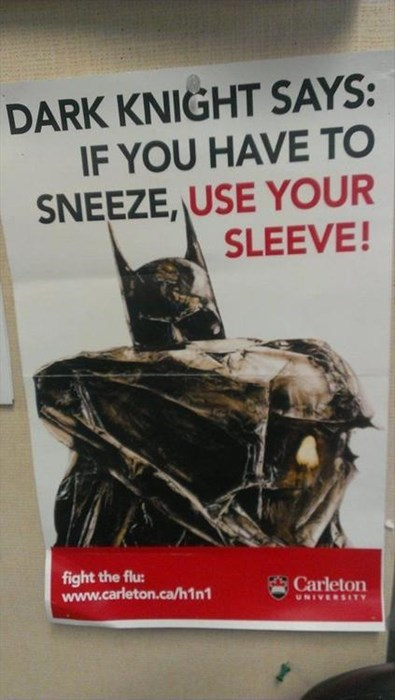 batman,sneeze,condiserate