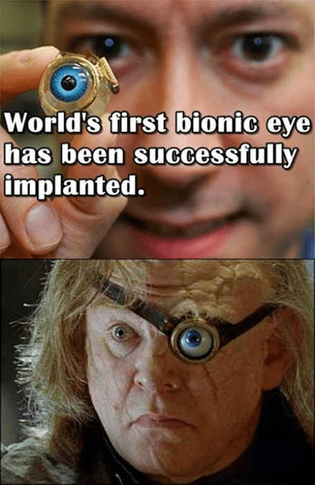 Harry Potter,mad eye moody,bionic eye